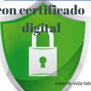 con certificado digital