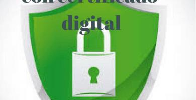 con certificado digital
