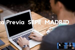 CITA PREVIA SEPE MADRID